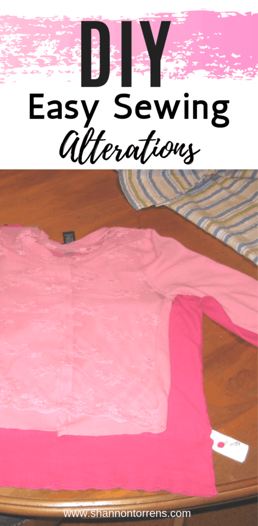 Easy to Sew Sweater Alterations