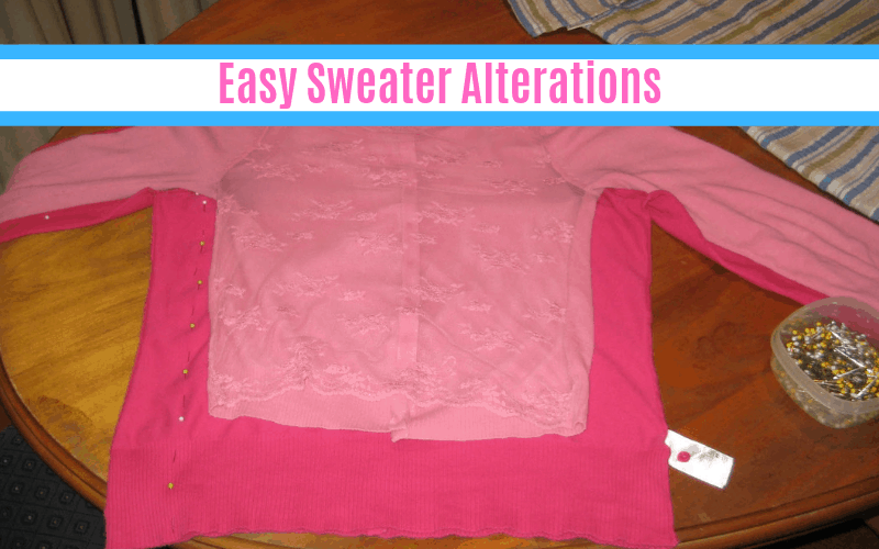 Easy Sweater Alterations