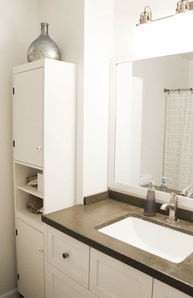 Black and White Bathroom Before and after