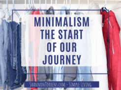 Minimalism - The Start of Our Journey