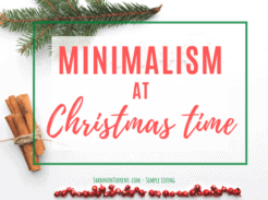 minimalism at Christmas Time
