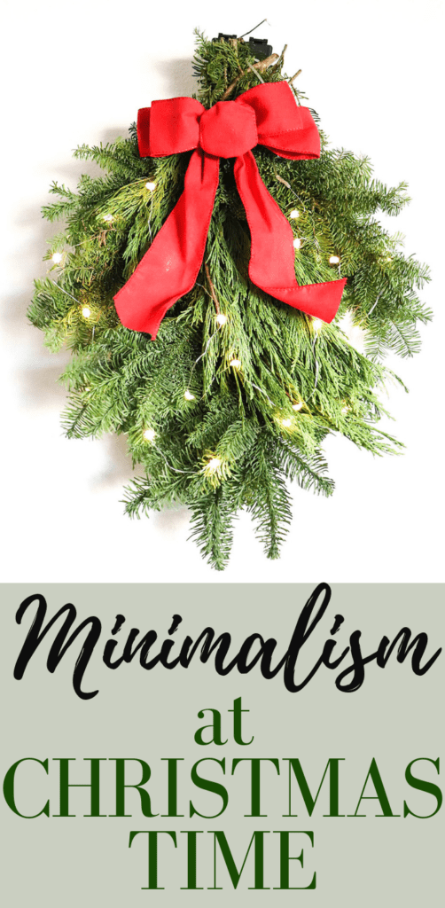 Minimalism at Christmas Time