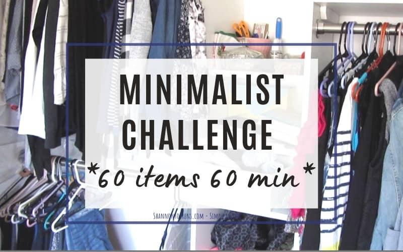 minimalist challenge