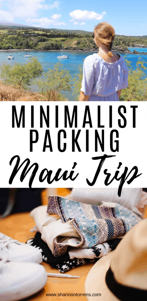 minimalist packing for Maui