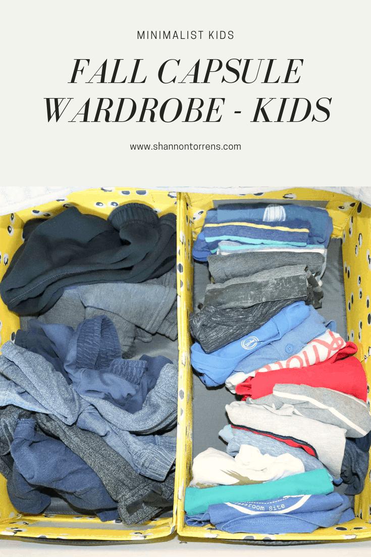 Fall Capsule Wardrobe - Kids
