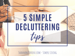 5 simple decluttering tips