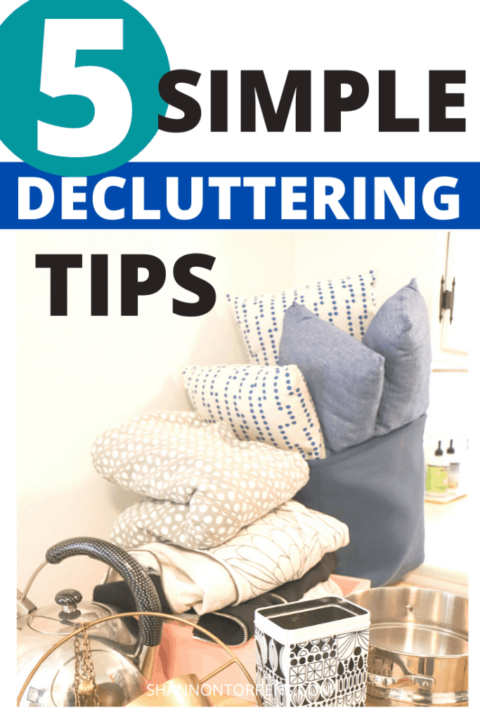 5 simple decluttering tips