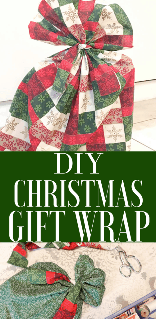 DIY Christmas gift wrap, reusable gift wrap