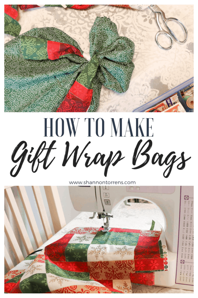 How to make gift wrap bags easy tutorial