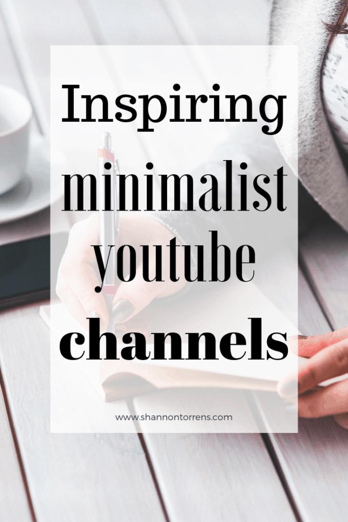 Minimalist youtube channels