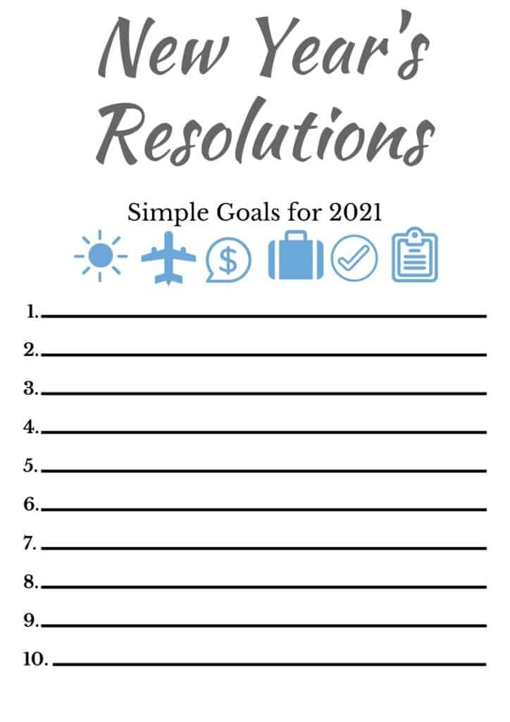 Minimalist New YearsResolutions
