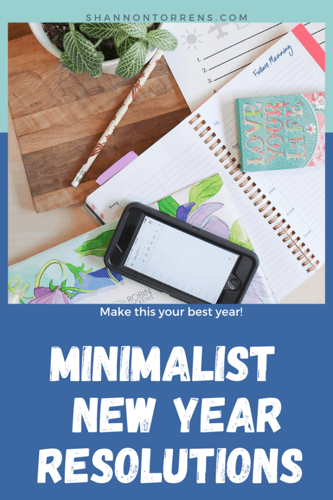 minimalist new year resolutions this year