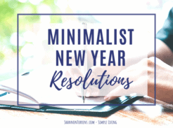new year resolutions minimal family