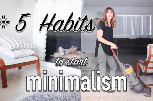 5 habits to start minimalism