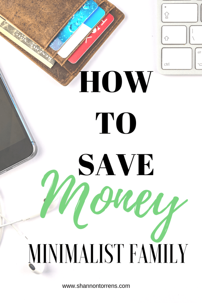 how to save money simple living minimalist