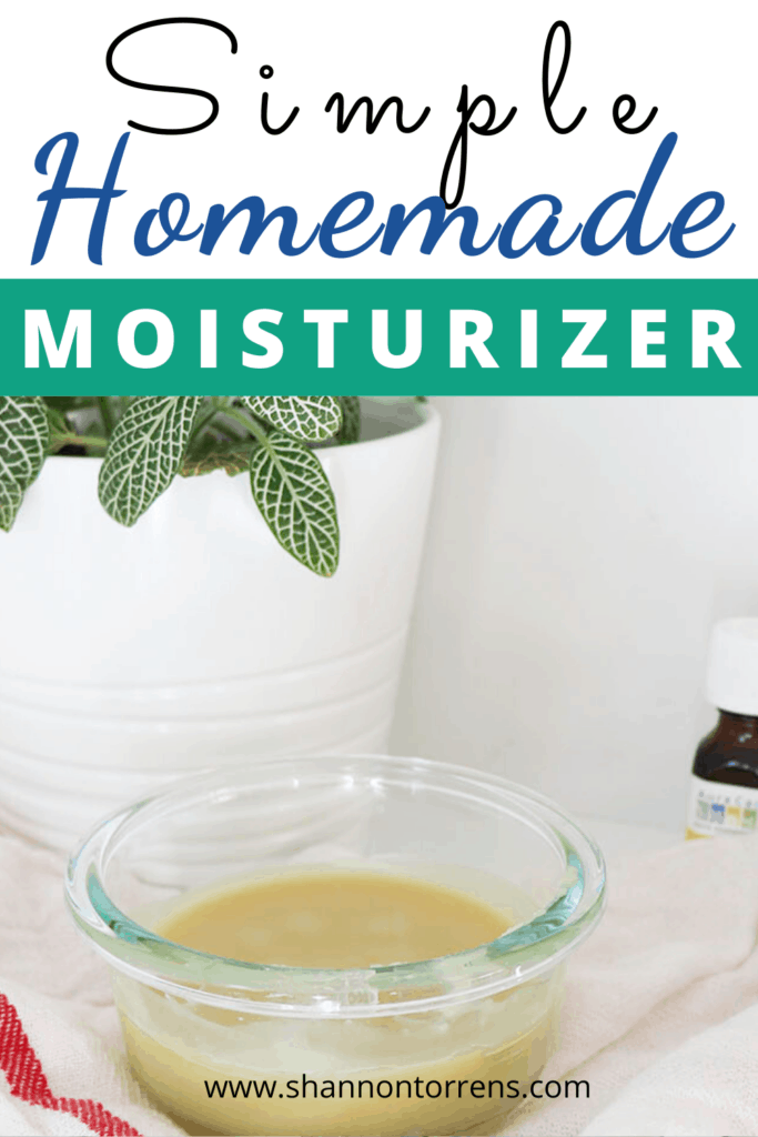 simple handmade moisturizer