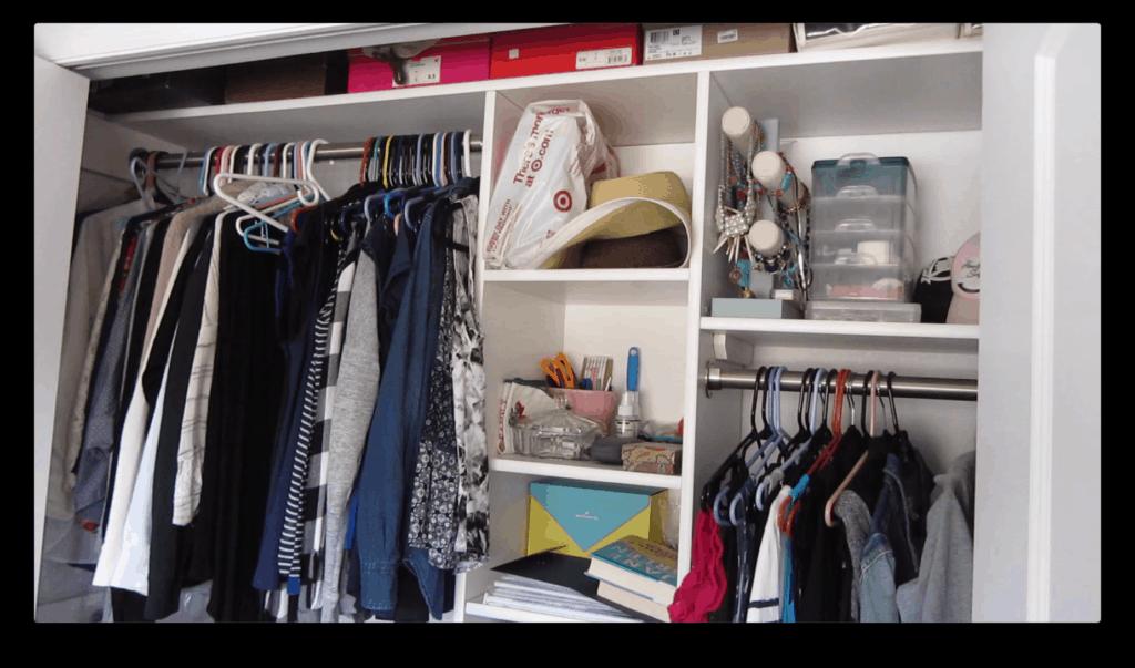 Minimal Closet Before Photo