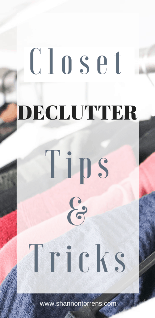 closet declutter tips and tricks
