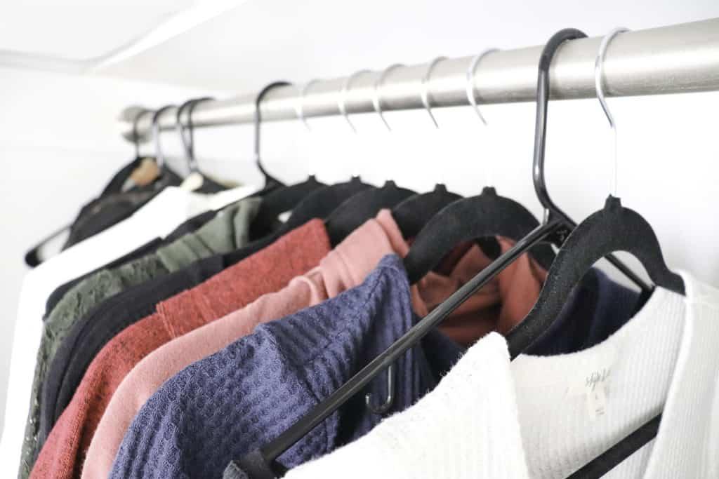 decluttered closet - minimalist closet
