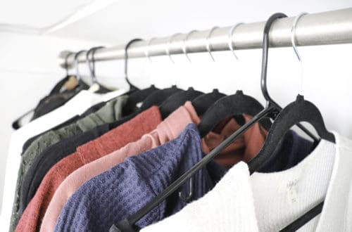 decluttered closet - minimalist family simple living
