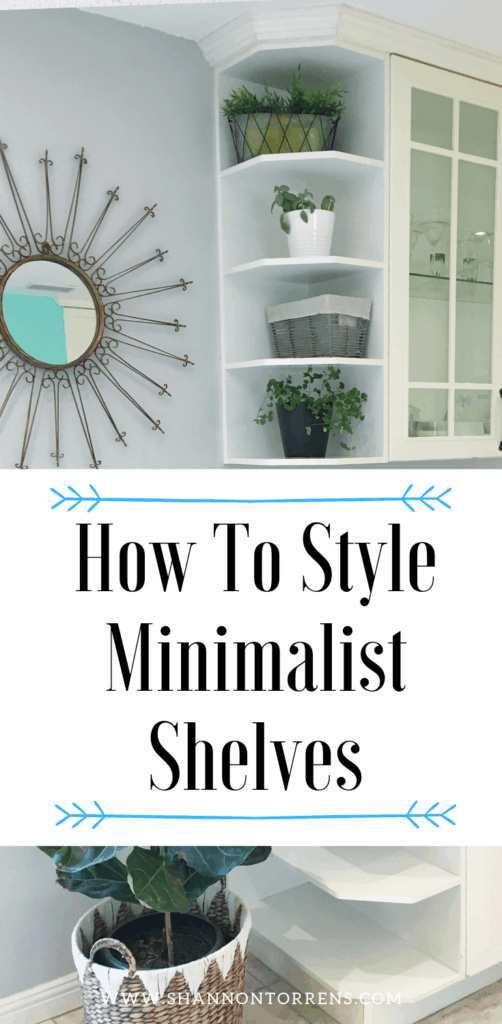 how to style minimalist shelves