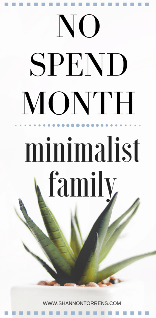 no spend month how to as a minimalist family