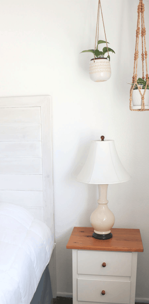 MINIMALIST WHITE BEDROOM DECOR DIY HEADBOARD