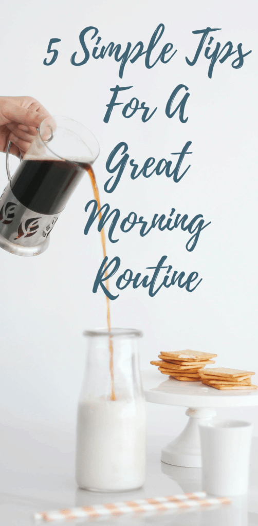 Great minimalist morning routine