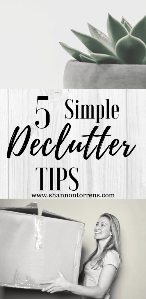 5 simple declutter tips to simple living
