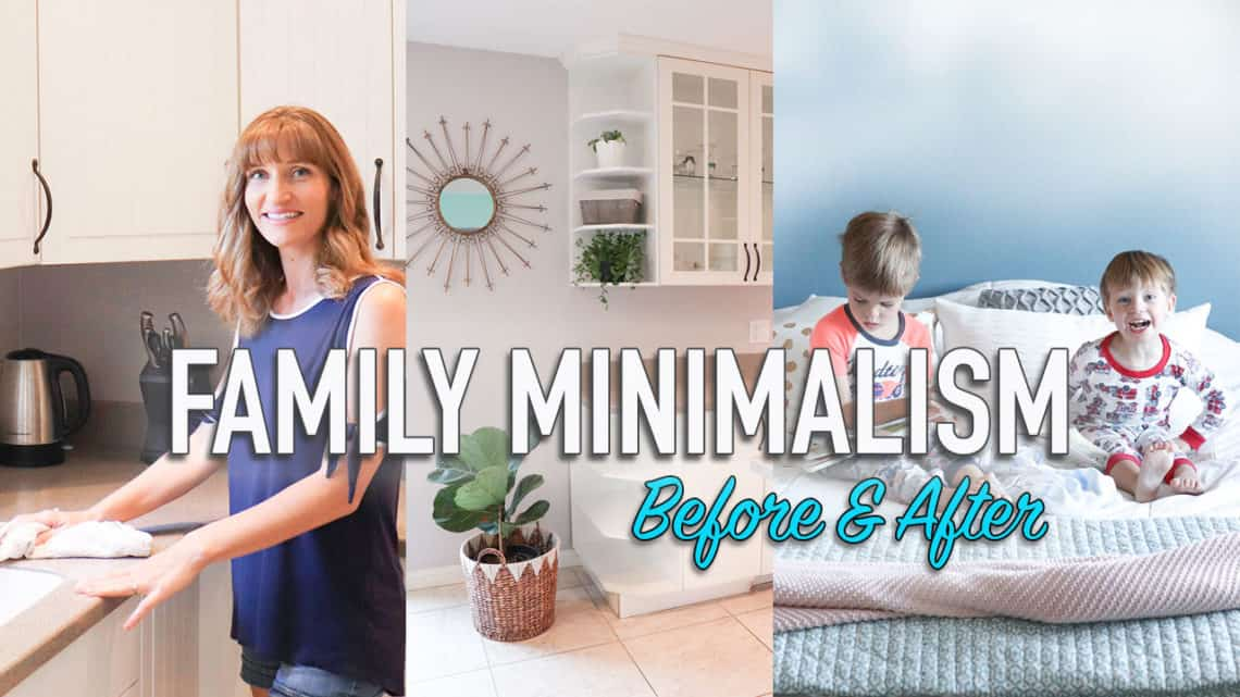 Tips to become more minimalist with a family