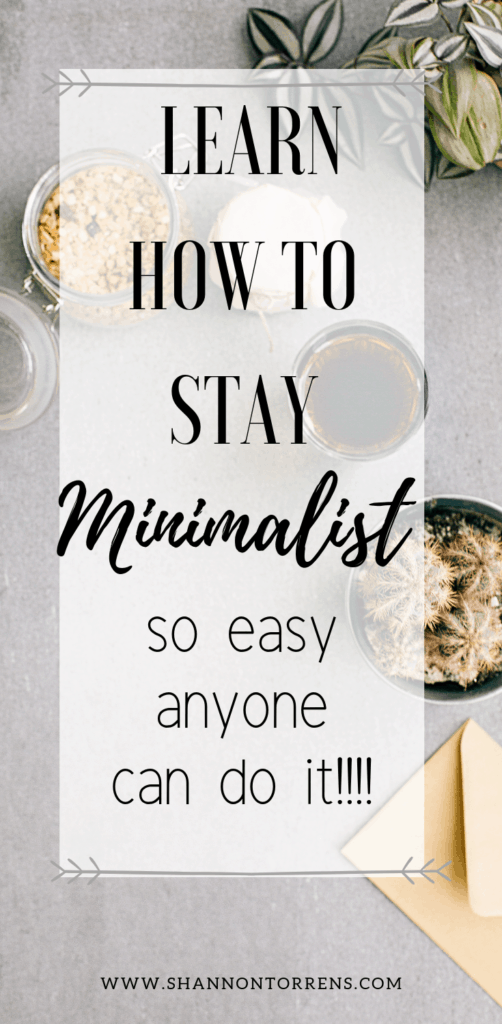 how to stay minimalist