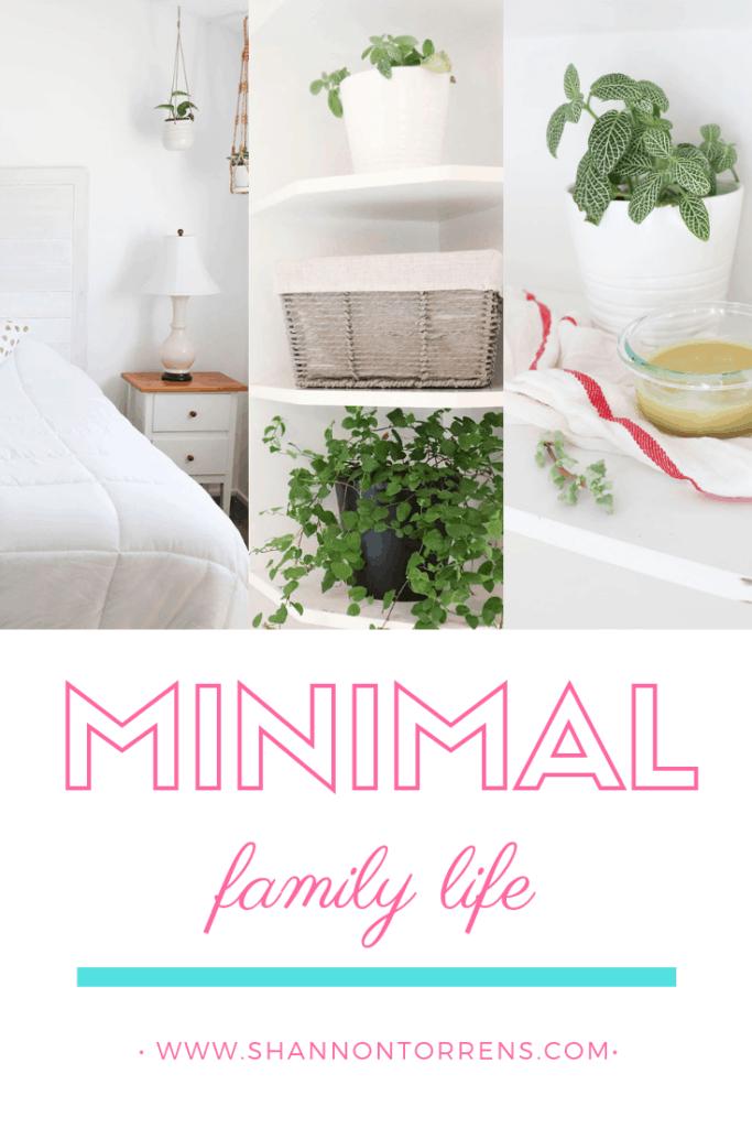 minimalist simple living family