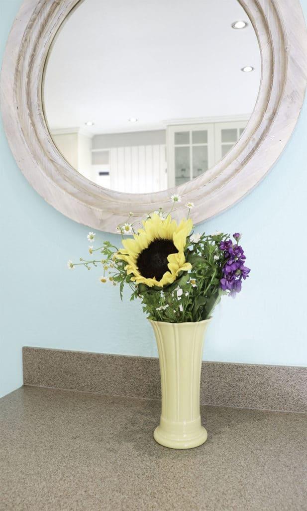 Spring Flowers in Yellow vase