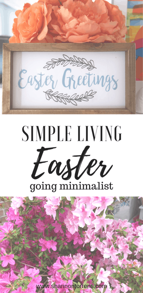 SIMPLE LIVING EASTER GOING MINIMALIST