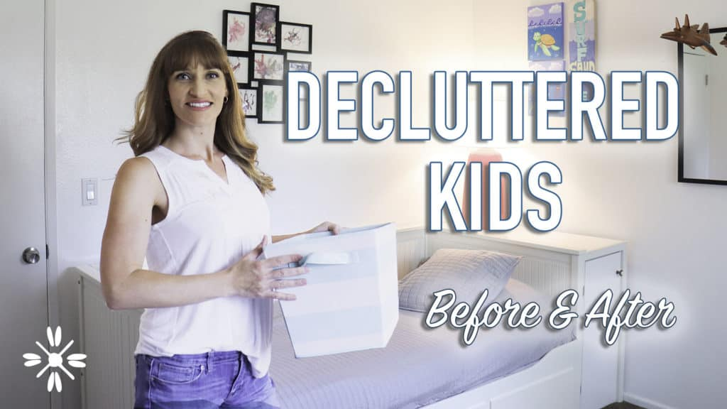 declutter kid toys simple living minimalist mom
