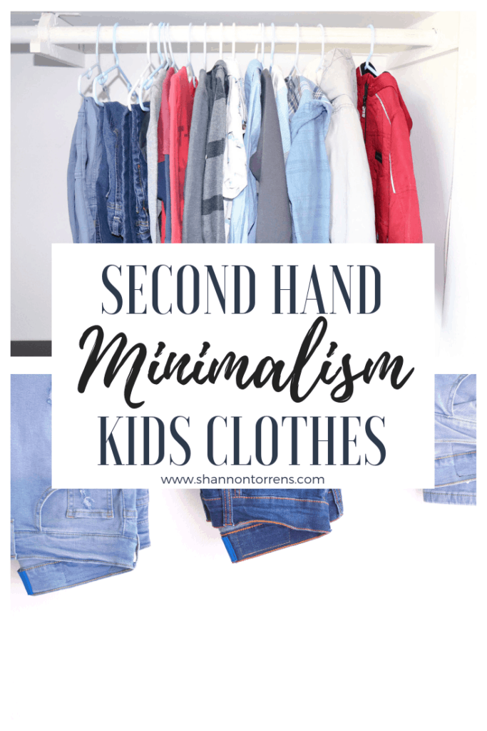 second hand clothes minimalism simple living