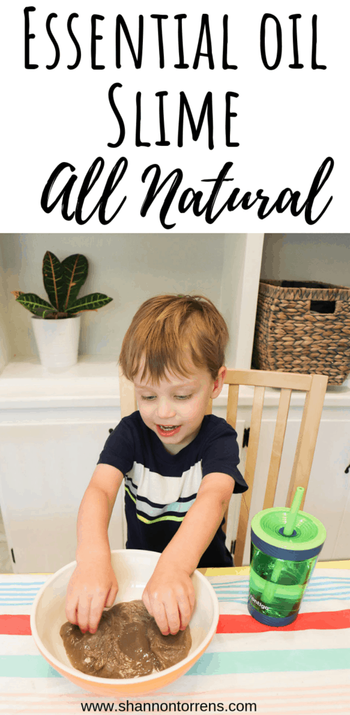 natural slime with essential oils
