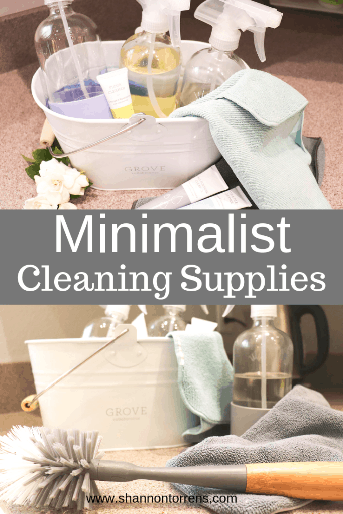 minimalist cleaning supplies