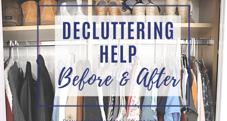Decluttering Help before after