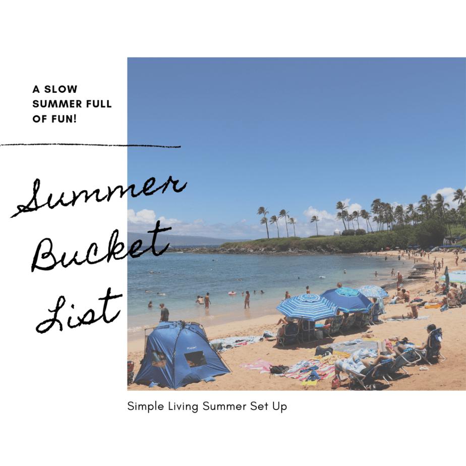 Simple Living Summer Bucket List