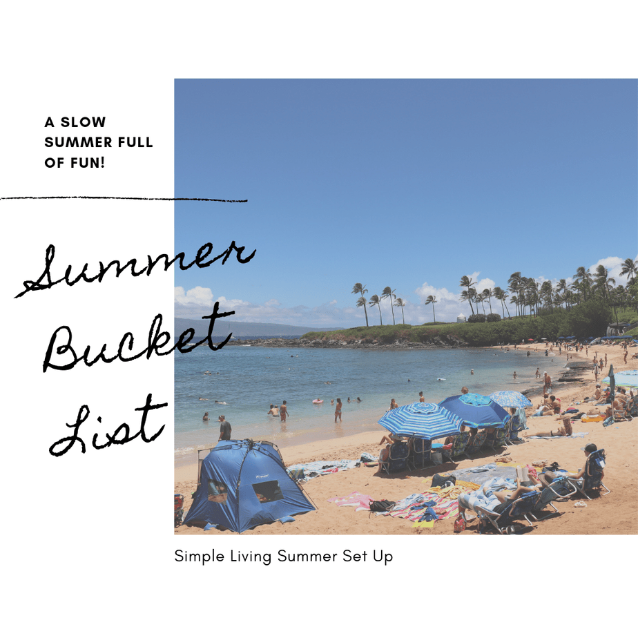 Simple Living Summer Bucket List