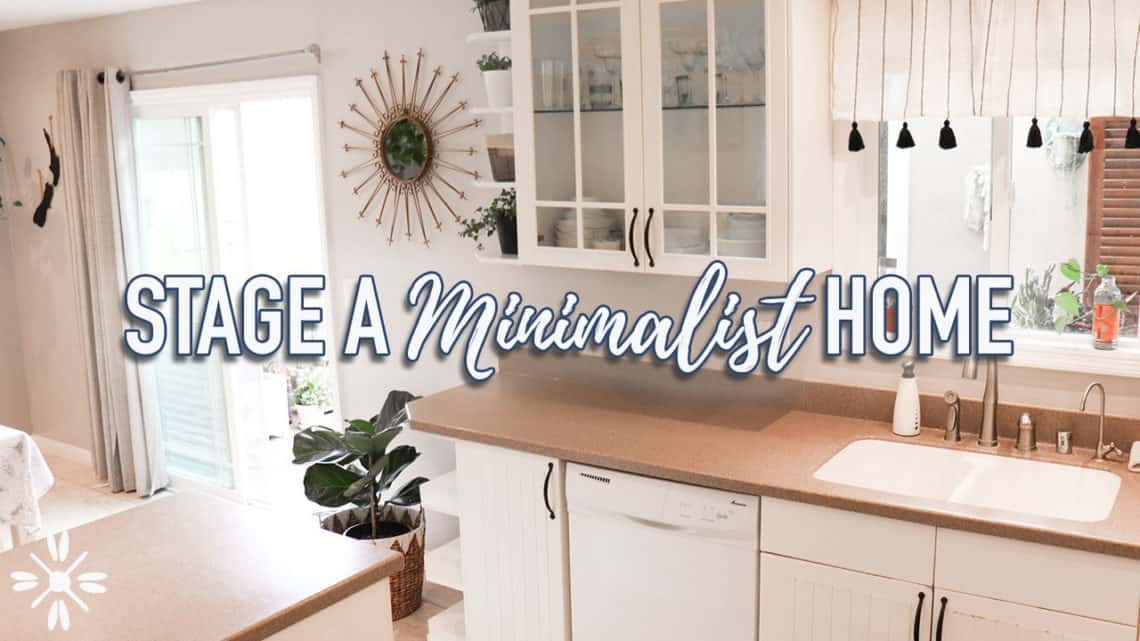 how to stage a minimalist home for sale