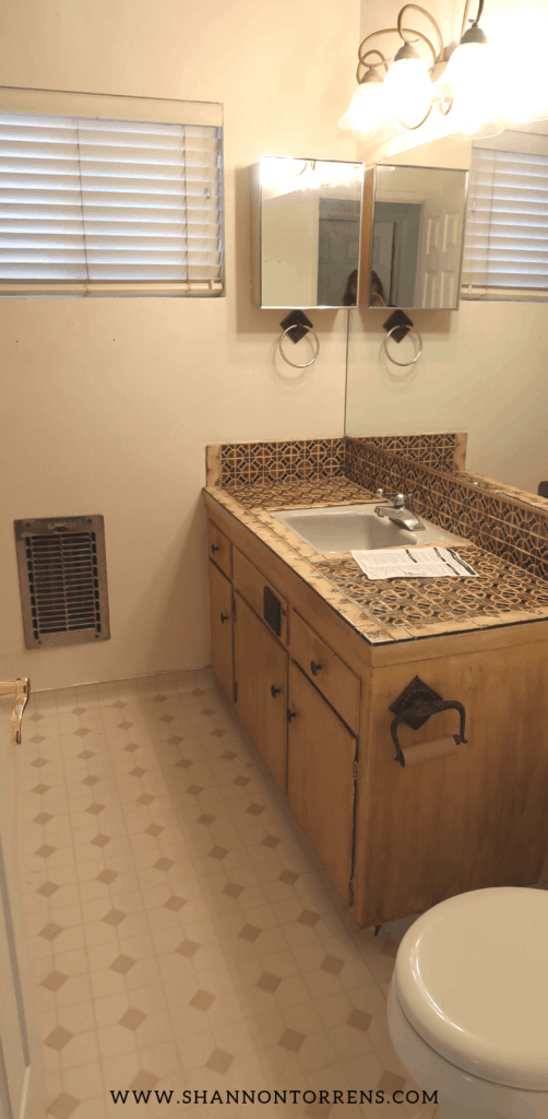 Brown Tile Bathroom