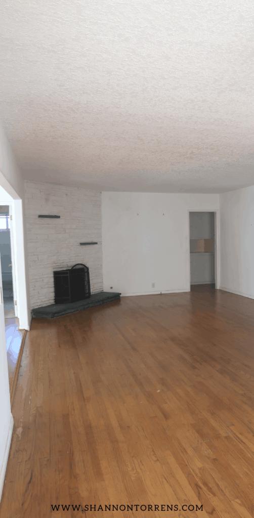 Empty living room - home tour