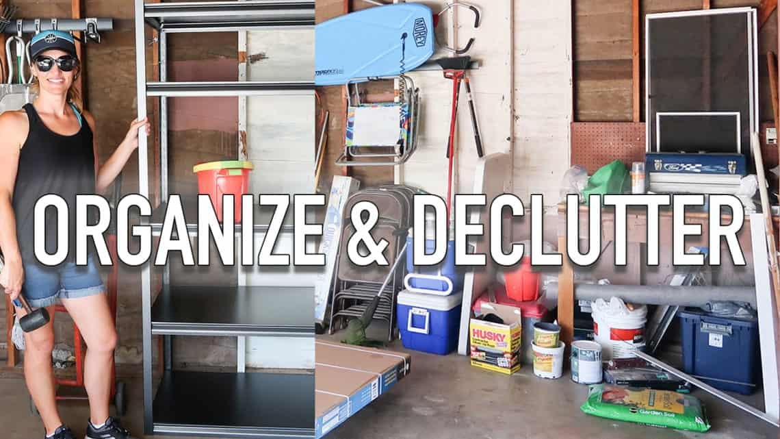 garage organization and declutter