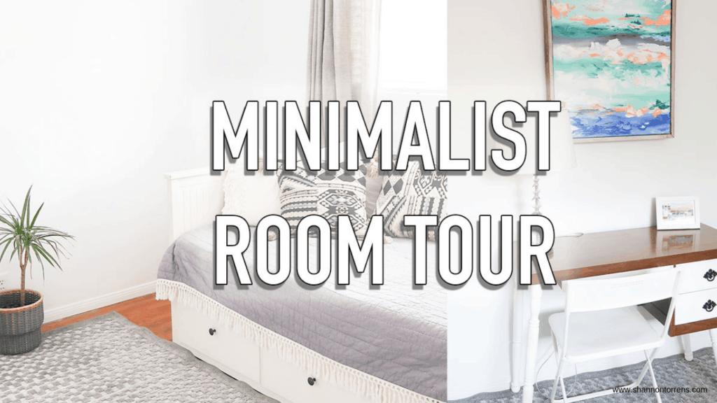 minimalist guest room decor
