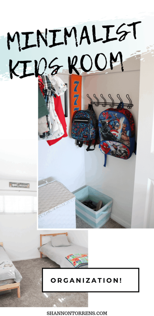 MINIMAL ROOM ORGANIZATION FOR KIDS