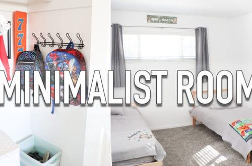 Minimalist room organization for kids