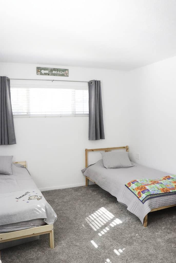 Minimalist Kids Room Organization