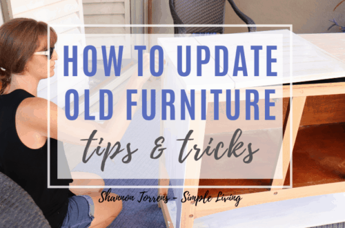 How to update old furniture